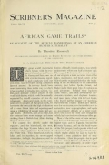 "Cover of ""African game trails"""