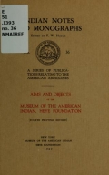 Cover of Aims and objects of the Museum of the American Indian, Heye Foundation