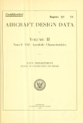 """Cover of """"Aircraft design data ..."""""""