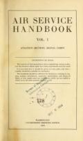 "Cover of ""Air service handbook"""