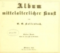 Cover of Album mittelalterlicher Kunst
