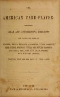 Cover of The American card player