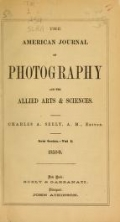 "Cover of ""The American journal of photography"""