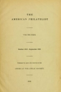 "Cover of ""The American philatelist"""