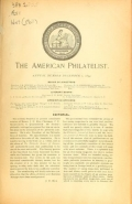 Cover of The American philatelist