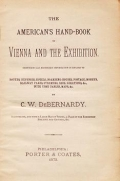 "Cover of ""The American's hand-book to Vienna and the exhibition"""