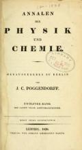 Cover of Annalen der Physik