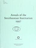 Cover of Annals of the Smithsonian Institution