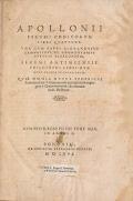 """Cover of """"Apollonii Pergæi Conicorum libri quattuor"""""""
