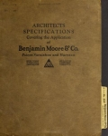 """Cover of """"Architects specifications covering the application of Benjamin Moore & Co. paint"""""""