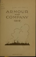 Cover of Armour and Company, 1919