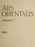 """Cover of """"Ars orientalis; the arts of Islam and the East"""""""