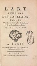 """Cover of """"L'art d'imprimer les tableaux"""""""
