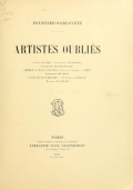 Cover of Artistes oubliés