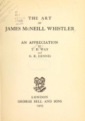 Cover of The art of James McNeill Whistler