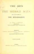 Cover of The arts in the Middle Ages, and at the period of the Renaissance