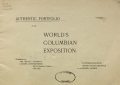 Cover of Authentic portfolio of the World's Columbian Exposition