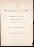 """Cover of """"The avifauna of Laysan and the neighbouring islands text"""""""