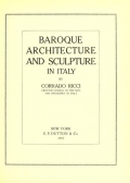 Cover of Baroque architecture and sculpture in Italy