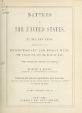Cover of Battles of the United States, by sea and land