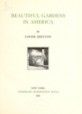 "Cover of ""Beautiful gardens in America"""