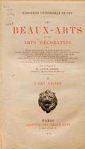 """Cover of """"Les beaux-arts décoratifs"""""""