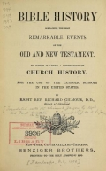 Cover of [Bible history