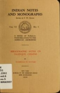 Cover of Bibliographic notes on Palenque, Chiapas