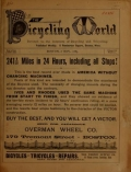 Cover of The bicycling world