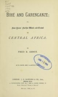 Cover of Bihé and Garenganze