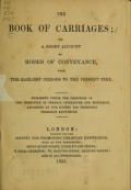 "Cover of ""The Book of carriages"""