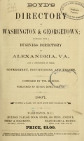 Boyd's directory of Washington & Georgetown : together with a business directory of Alexandria, Va
