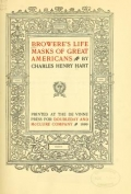 Cover of Browere's life masks of great Americans