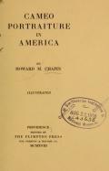 Cover of Cameo portraiture in America