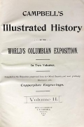 Cover of Campbell's illustrated history of the World's Columbian Exposition v. 2
