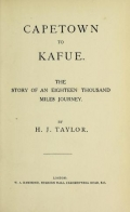 """Cover of """"Capetown to Kafue"""""""