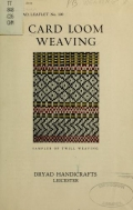 Cover of Card loom weaving
