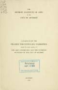 Cover of Catalog of the Pilgrim Tercentenary exhibition