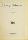 Cover of Catalogo Thebussiano
