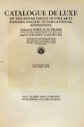 """Cover of """"Catalogue de luxe of the Department of fine arts, Panama-Pacific international exposition"""""""