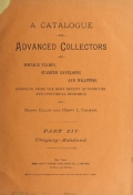 Cover of A catalogue for advanced collectors of postage stamps, stamped envelopes and wrappers pt. 14