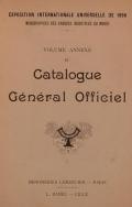 Cover of Catalogue général officiel t. 15 annexe