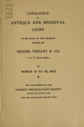 Cover of Catalogue of antique and medieval gems
