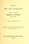 "Cover of ""Catalogue of the art collection"""