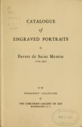 Cover of Catalogue of engraved portraits