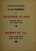 Cover of Catalogue of an exhibition of stained glass from the XIth to the XVIIIth cent