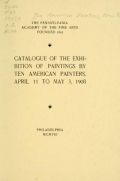 Cover of Catalogue of the exhibition of paintings by Ten American painters, April 11 to May 3, 1908