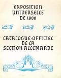 Cover of Catalogue officiel de la section allemande