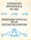 Cover of Catalogue officiel de la section allemande