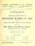 Cover of Catalogue of an important and valuable collection of Japanese works of art including lacquer, inro, netsuke, swords, and sword furniture being the thi